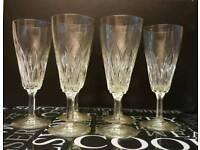 Set of six vintage wine glasses