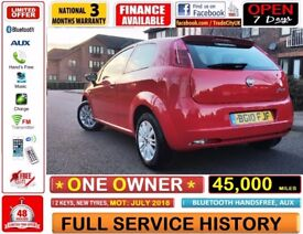 45,000 MILES!! ONE OWNER!! 2010 FIAT GRANDE PUNTO 1.4, FULL SERVICE HISTORY, VW POLO, CORSA FIESTA
