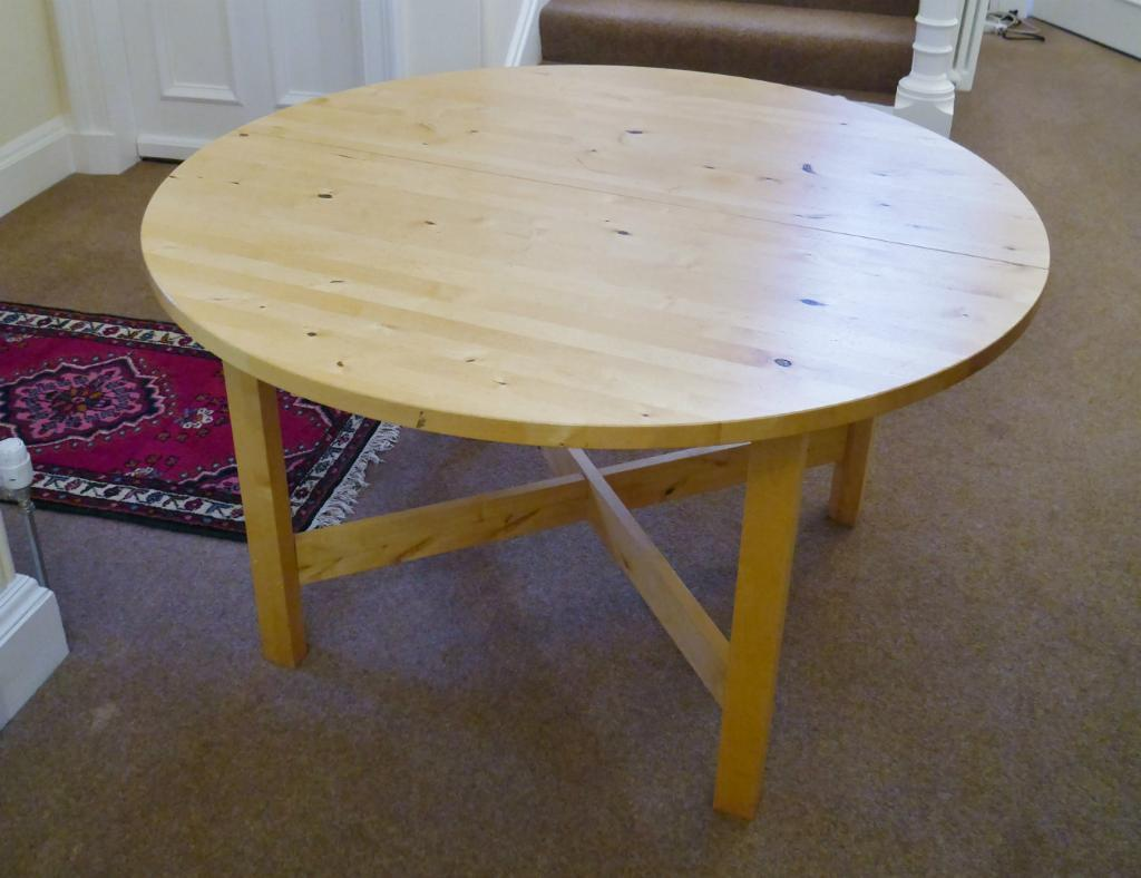 ikea norden round table in merchiston edinburgh gumtree. Black Bedroom Furniture Sets. Home Design Ideas