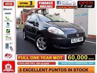 60,000 MILES !!!! Fiat Grande Punto 1.2 Active 3dr, MANUAL, FULL MOT, HPI CLEAR ! CORSA POLO FIESTA
