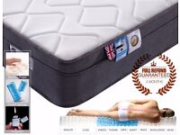 Pocket Sprung Mattress with Memory Foam, 10.6-Inch, 4FT6 Double - NEW!!