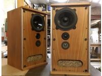 Vintage B&W DM2a Transmission line Speakers. Restored cabinets. Bowers & Wilkins