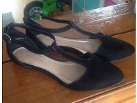 New look suede shoes, size 4