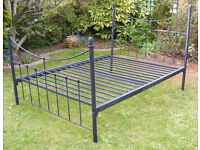 Metal bed frame double size 142cm x 190cm approx