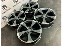 """BRAND NEW 18"""" 19"""" AUDI RS ROTA SLINE STYLE ALLOY WHEELS - ALSO AVAILABLE WITH TYRES - 5 x 112"""