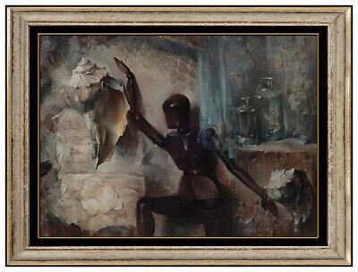 Arthur Meltzer Original OilPainting On Canvas Figurative Signed Framed Artwork