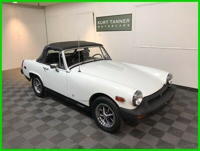 1976 MG Midget Roadster, 4-Speed 1976 MG MIDGET CONVERTIBLE. WHITE. REMARKABLE 29,476 MILE CAR. SUPERB ORIGINAL.