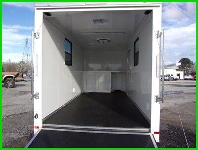 7x16 enclosed motorcycle cargo enclosed trailer A/C unit toy hauler camper NEW