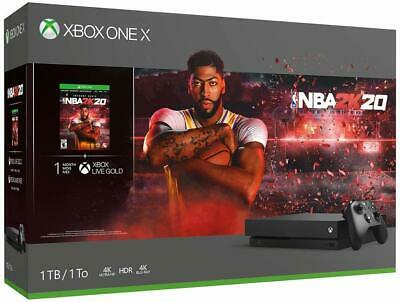 Microsoft Xbox One X 1TB Black Console Bundle with NBA 2K20