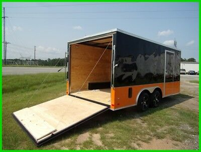 8.5x16 2' v nose 18' motorcycle enclosed cargo carhauler trailer toyhauler New