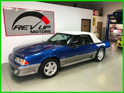 1992 Ford Mustand GT Convertible ONE of 228 In ULTRA BLUE Very Rare Awesome GT