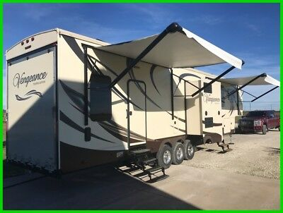 2015 Forest River Vengeance Touring Edition 39C14 42' Fifth Wheel Fireplace