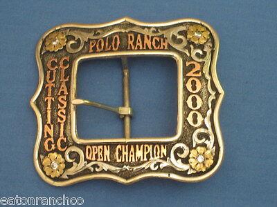 Mortenson Ranch Roper Rodeo Trophy Belt Buckle 1 1/2 Cart Style Awards Custom 4u