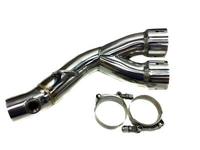 R6 2006 thru 2020 MJS Mid Pipe Y Pipe Link Race Exhaust Decat CAT Eliminator NEW