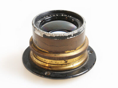 "GOERZ DAGOR BRASS 8.25"" F/6.8 LARGE FORMAT LENS W/ RETAINING RING for sale  Pittsburgh"