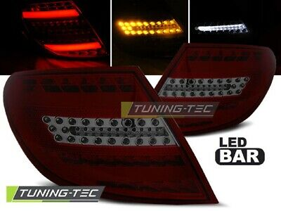 Lightbar LED Rückleuchten Set Mercedes Benz C-Klasse W204 2007 - 2011 rot/smoke