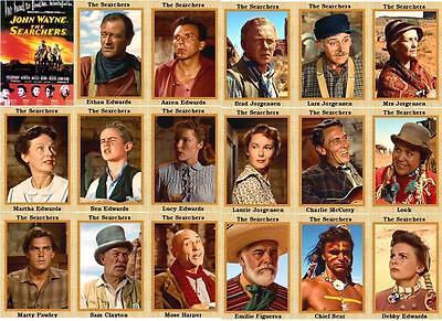 The Searchers John Wayne movie trading cards Natalie Wood Jeffrey Hunter