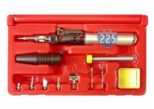 10 in 1 Multi-Functional Butane Gas Soldering Iron/ Heat Gun/ Blow Torch Kit USA
