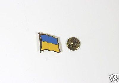 Ukrainian National Country Flag Lapel Pin Metal