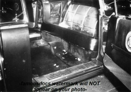 John F Kennedy Dallas Limo Secret Service PHOTO Assassination,JFK Dallas, Roses