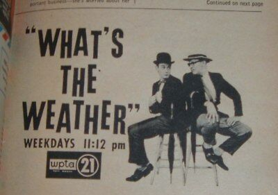 1961 Wpta Tv News Ad Weather Fort Wayne Indiana Newscaster Channel 21