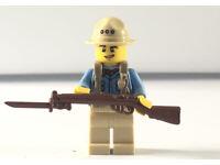 Lego WW1 Soldier ANZAC Golipoli Campaign Minifigure