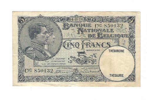 Belgium - 1926, 5 Francs