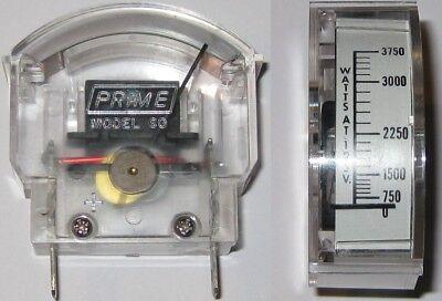 2 X Prime Model 60 Emergency Generator Analog Wattmeter - 3750 Watt Scale - 125v