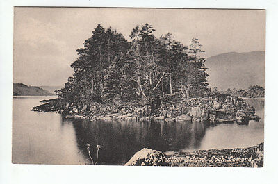 The Heather Island Loch Lomond 1881 Valentines 02295 Card Published 1920 Old PC