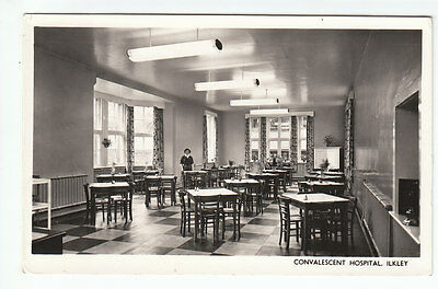 Dining Room Convalescent Hospital Ilkley Yorkshire Real Photograph Old Postcard