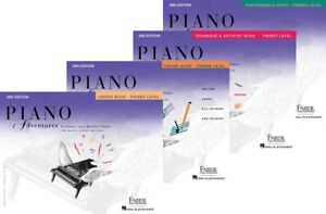 Faber Piano Adventures Primer Level - 4 Book Pack (Lesson/Theory/Perf/Tech)