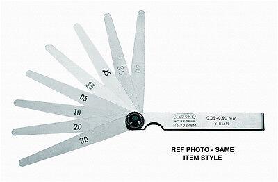 Gedore 702 13 A Feeler Gauge Set Fan Pattern .0002-.035 4 Blades Germany