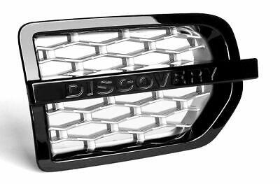 Discovery 3 2004>09 Supercharged Look- Black + Silver 3D Mesh Side Vent-HAWKE