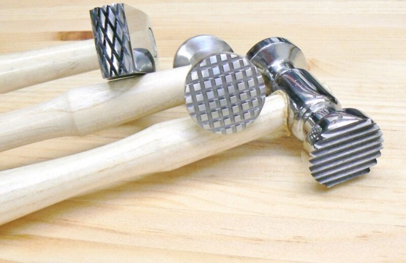 Texturing Hammers Texture Hammer Finish on Metal 3 pcs Jewelry Design 6 Patterns