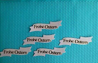 12 x Stanzteile Kartenschmuck Kartenaufleger Scrapbooking Basteln Papier