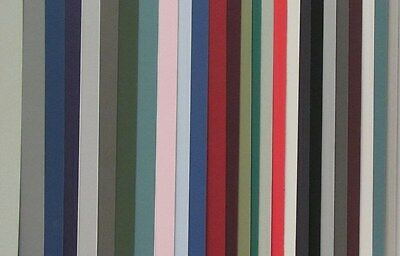 5x8 - 30 Pack Matboard  - No Opening - Straight Cut - Assorted Colors