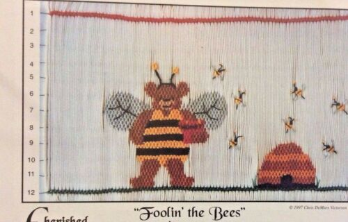 "CHERISHED STITCHES SMOCKING PLATE-FOOLIN"" THE BEES"