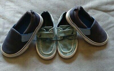 Nautica & Genune Kids shoes 8 /9 Toddler Lot Of 2 Blue