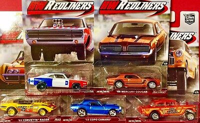 Hot Wheels 1:64 2016 Car Culture REDLINERS SET OF 5 CASE G Chevy Camaro Vette