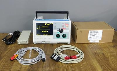 Zoll M-series Biphasic 3 Lead Ecg Pacing Analyze Als Paddles Battery Cables