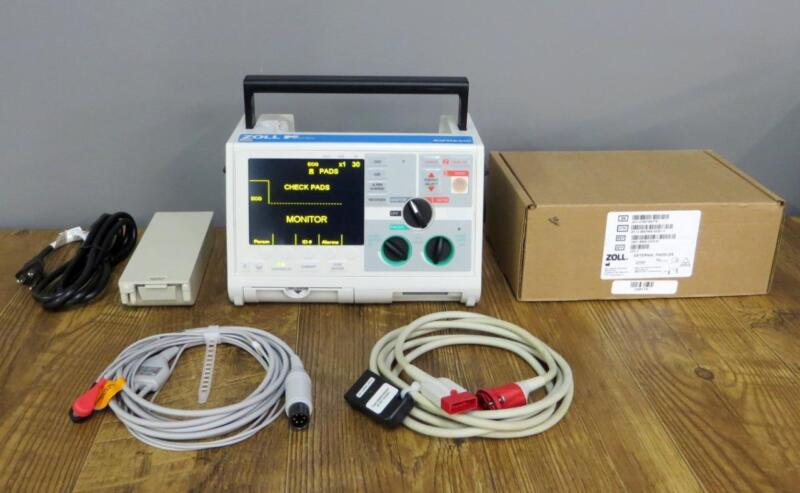 ZOLL M Series Biphasic 3 Lead ECG Pacing Analyze NEW PADDLES