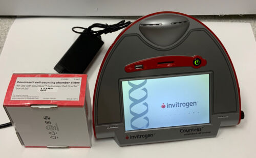 Invitrogen Countess Automated Cell Counter & Box of Slides; Great Condition