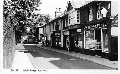 High Street Leiston Nr Saxmundham (C) unused RP old postcard Frith Good