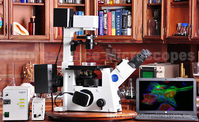 Olympus Ix71 Inverted Fluorescence Phase Contrast Microscope - 1 Year Warranty