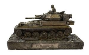 Scorpion-Reconnaissance-Vehicle-Cold-Cast-Bronze-Military-Statue-Sculpture