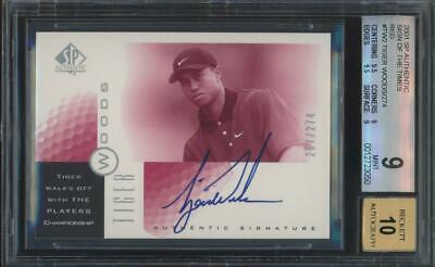 2001 SP Authentic Sign Of The Times Red Tiger Woods /274 RC Mint BGS 9 10 Auto
