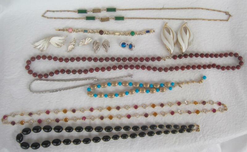 Trifari Sarah Coventry Monet Lisner Lot of Fashion Jewelry Variety Pieces Colors