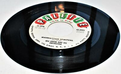 Manhattan Blue Pop (Reg Owen & His Manhattan Spiritual b /w Ritual Blues 1958 Palette 5005 45rpm VG )