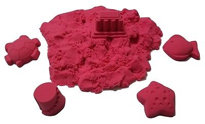 2 lb Refill Red Space sand / Moon Crazy Magic Sand Mold-N-Play Kids Fun Kinetic