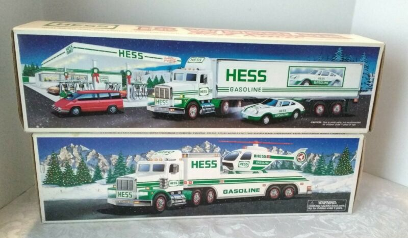 1992, 1995 Hess Trucks, Toy, NEW IN BOX  NEW OLD STOCK NOS